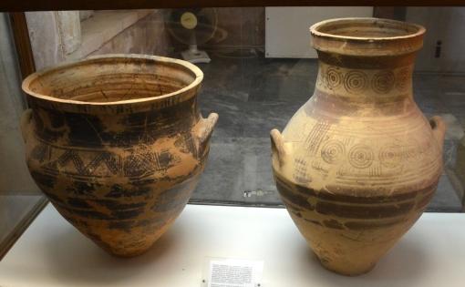 Κρατίρας & αμφορέας - Χανιά, νεκρόπολη Γαβαλομούρι, Κυδωνία, 2ον μισό 8ου πΧ αιώνα